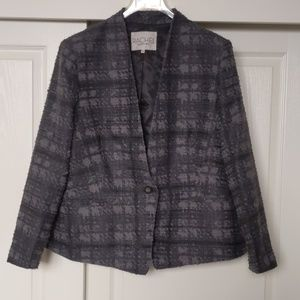 Rachel Roy Grey Check Blazer